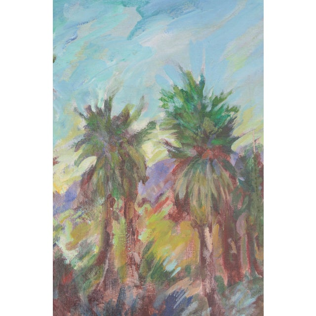 Vintage Original Lanscape of Palm Trees and River - Image 2 of 6