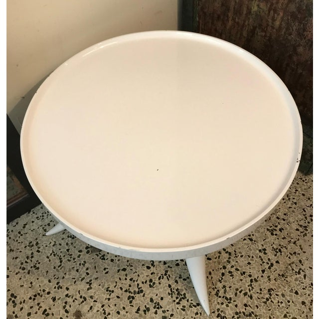 Jonathan Adler Lacquer Tusk White Coffee Cocktail Table - Image 3 of 7