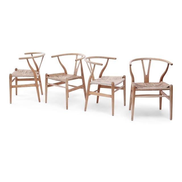 Wishbone Armchairs by Hans Wegner For Sale - Image 11 of 13