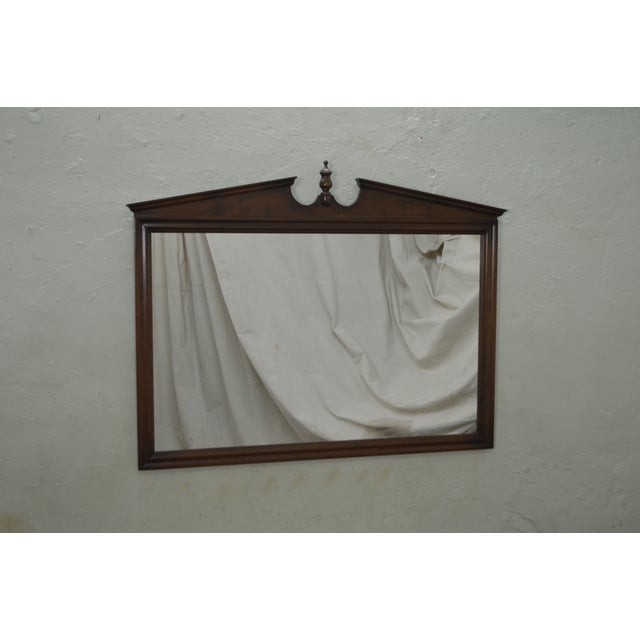 Traditional Ethan Allen Vintage Maple Hanging Wall Mirror For Sale - Image 3 of 10