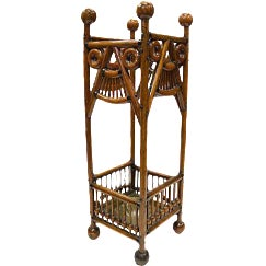Antique Oak Umbrella Stand For Sale