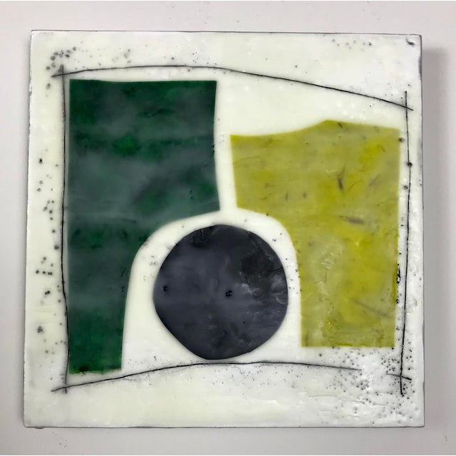 """Gina Cochran """"Road Trip"""" Encaustic Collages - 16 Pieces For Sale - Image 9 of 13"""