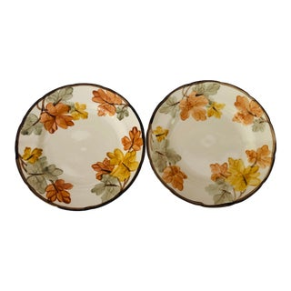 "Vintage Franciscan China ""October Pattern"" Set of 2 Dinner Plates For Sale"