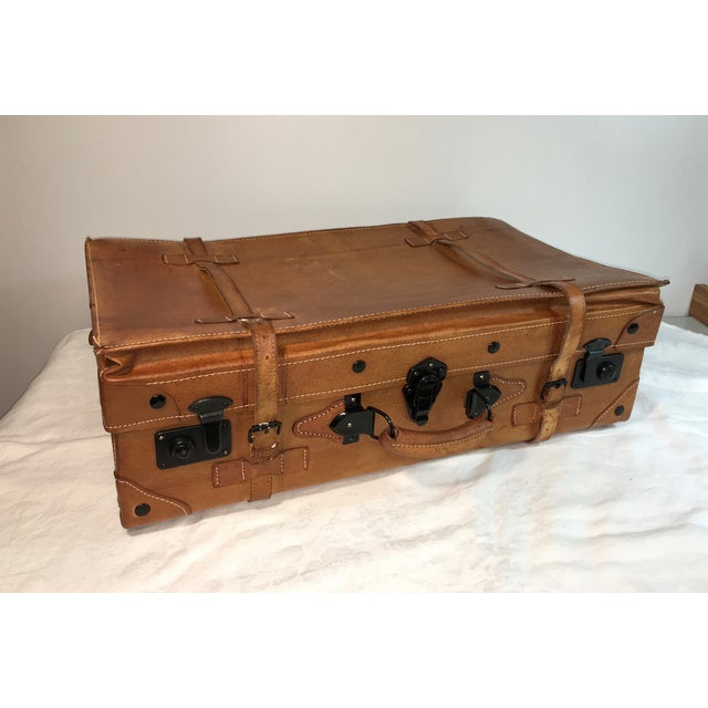 Vintage Leather Suitcase - Image 2 of 8