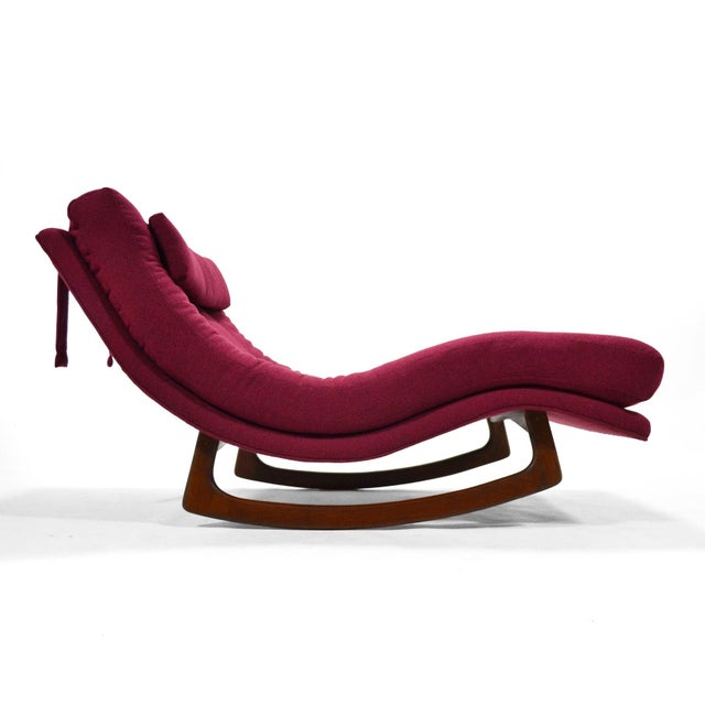 Mid-Century Modern Adrian Pearsall Rocking Chaise by Craft Assoc. For Sale - Image 3 of 10