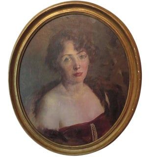 Early 20th Century Portrait of Woman For Sale