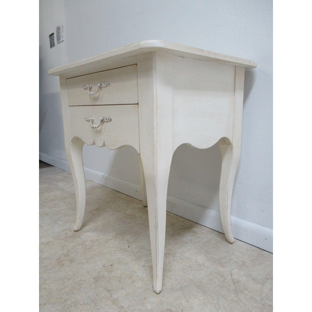 Ethan Allen Maison French Country Lamp End Table / Night Stand - Image 4 of 6