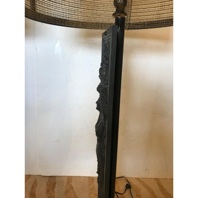 Late 19th Century Antique Iron Table Lamps - A Pair For Sale - Image 4 of 13