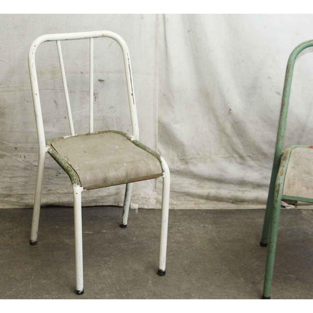 Two have a green metal frame and one has a white metal frame. Priced each. The listing is for a single unit but 3 are...