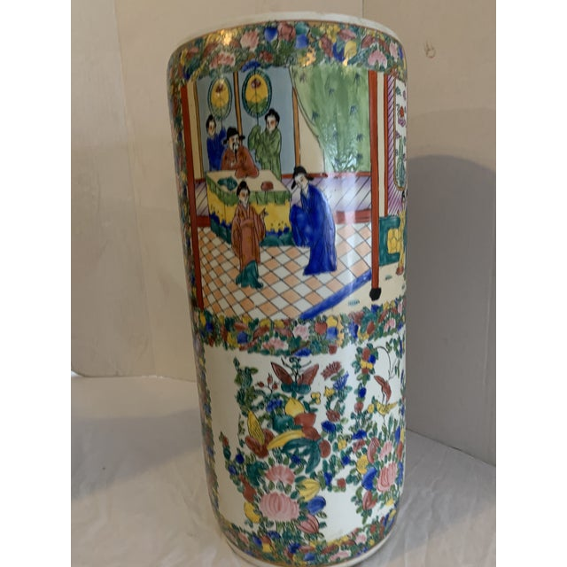 English Mid 19th Century Chinese Porcelain Cane Stand For Sale - Image 3 of 9