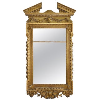 19th Century Georgian Gilt Mirror in Style of William Kent For Sale