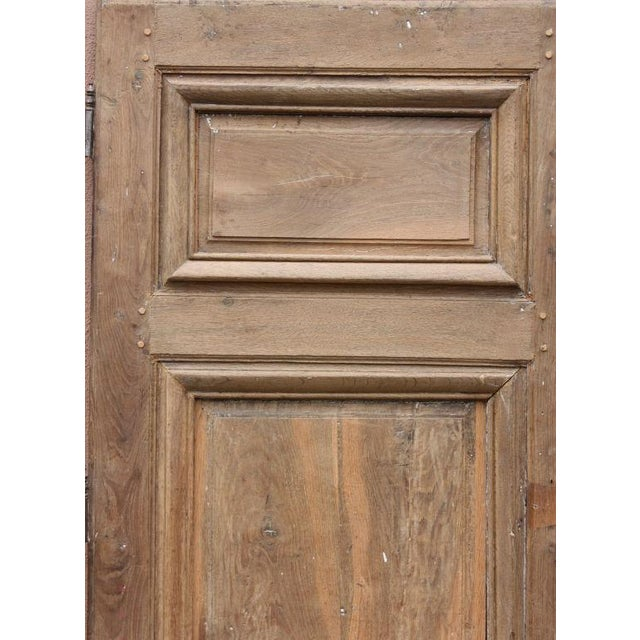 Rustic Circa 1800 Rustic Walnut French Door For Sale - Image 3 of 4