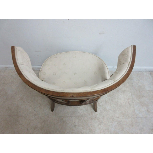 Vintage Italian Regency Cherrywood Fireside Side Lounge Chair For Sale In Philadelphia - Image 6 of 11