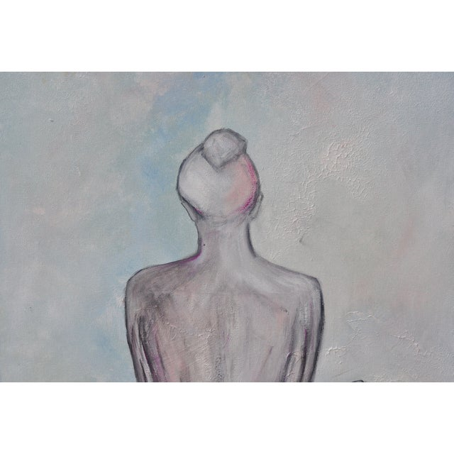 """Airy Nude"" Original Signed Female Figure Painting - Image 2 of 5"