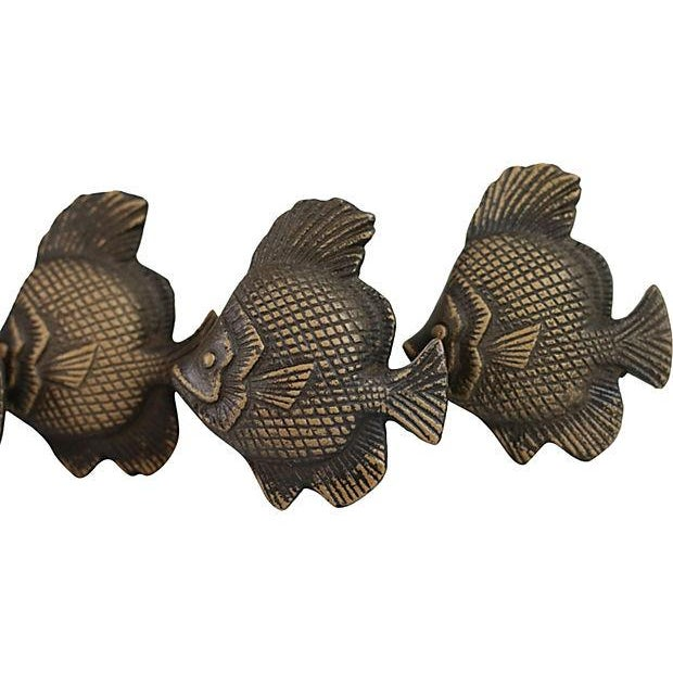 Nautical Metal Fish Cabinet Knobs - Set of 4 For Sale - Image 3 of 3