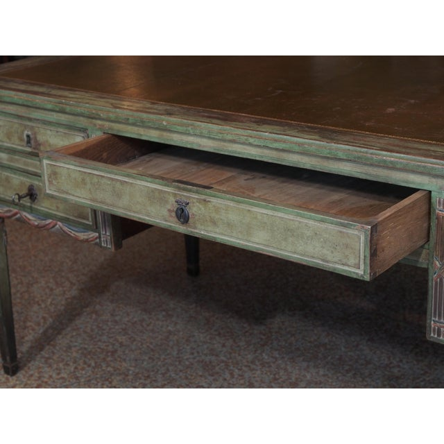 "Metal ""French Revolution"" Polychrome Desk For Sale - Image 7 of 9"