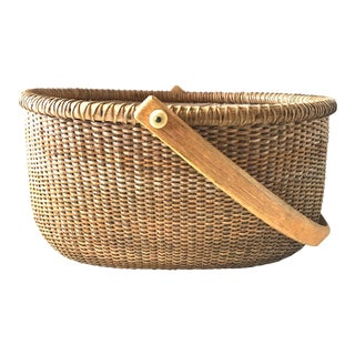 Mid 20th Century Nantucket Basket For Sale
