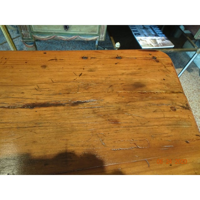 Wood 18th Century French Walnut Table For Sale - Image 7 of 13