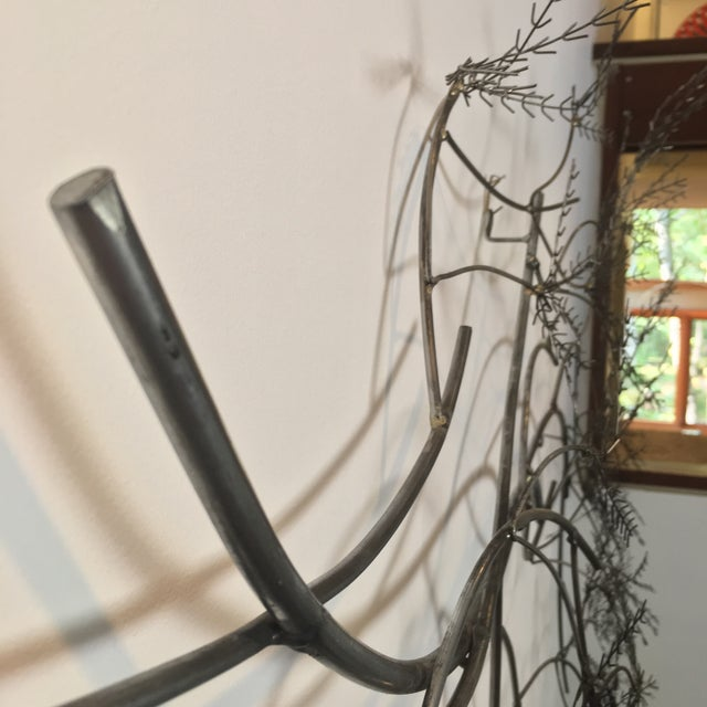 Metal Curtis Jere Wheat Willow Wall Art Sculpture For Sale - Image 7 of 8