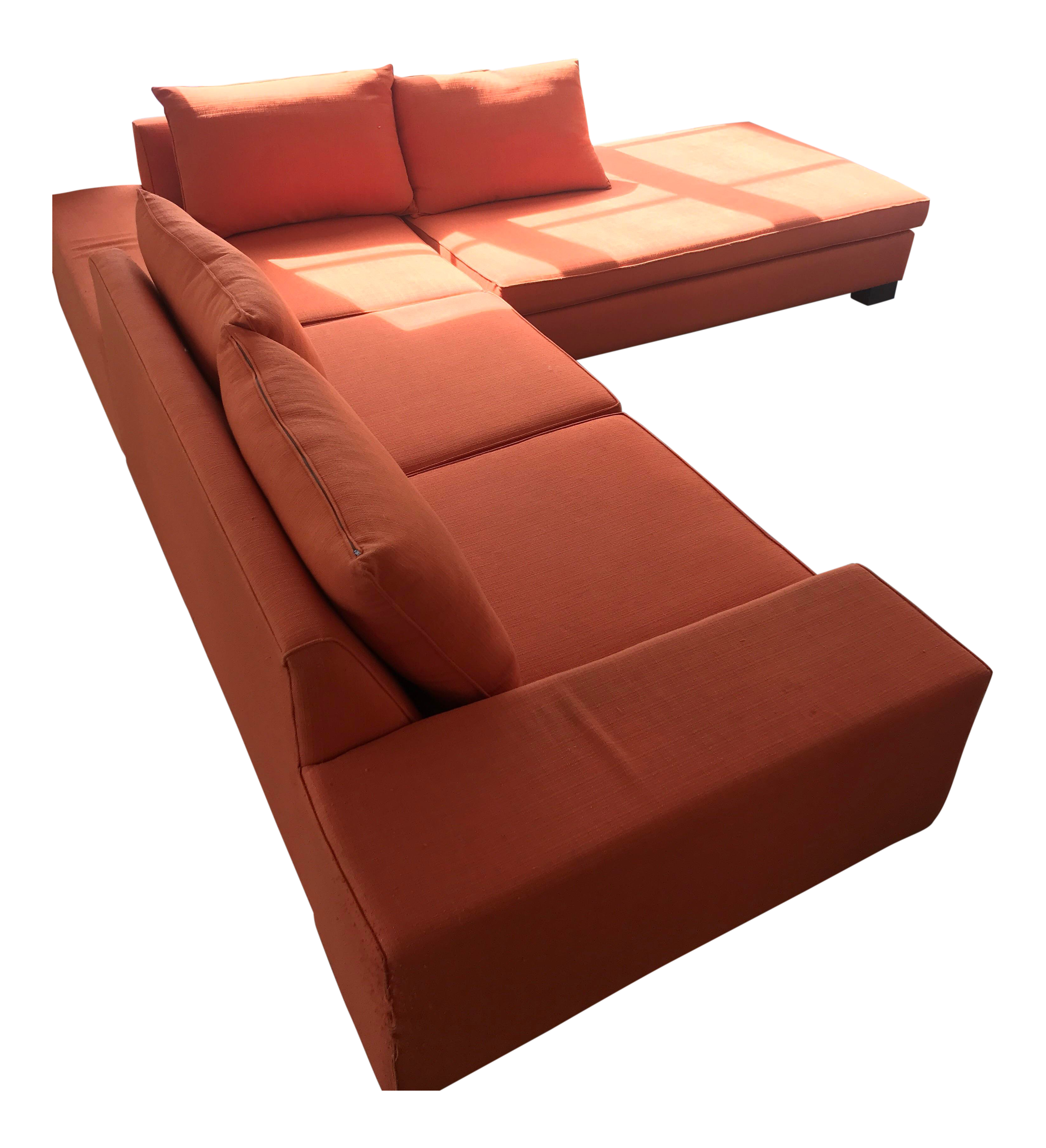 Blumen Orange Sectional Couch Chairish