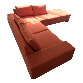 Blumen Orange Sectional Couch For Sale