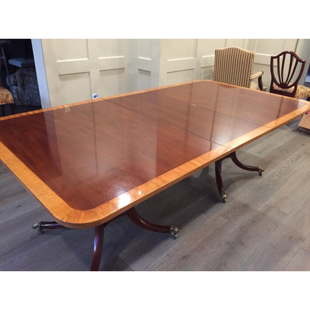 Baker Double Pedestal Mahogany Dining Table - Image 4 of 7