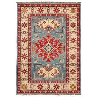 Contemporary Pak Kazak Lamb's Wool Rug - 3′9″ × 4′ For Sale