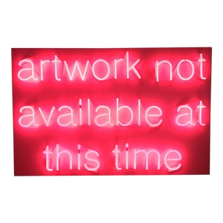 """Unavailable"" Pink Neon Sign"
