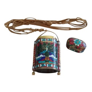 Vintage Chinese Cloissone Perfume Container Neckware For Sale