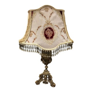Old World French Style Table Lamp For Sale