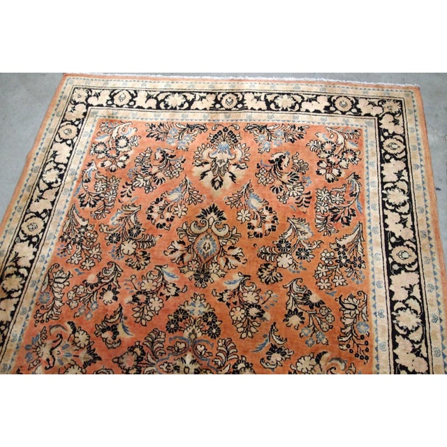 1920s, Handmade Antique Persian Sarouk Rug 5.2' X 8.3' - 1b704 For Sale In New York - Image 6 of 10