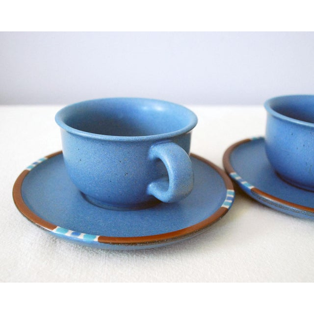 Contemporary Vintage Dansk Mesa Blue Cup and Saucer - a Pair For Sale - Image 3 of 7