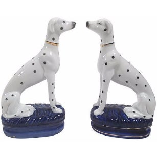 Staffordshire-Style Dalmations - A Pair - Image 1 of 5