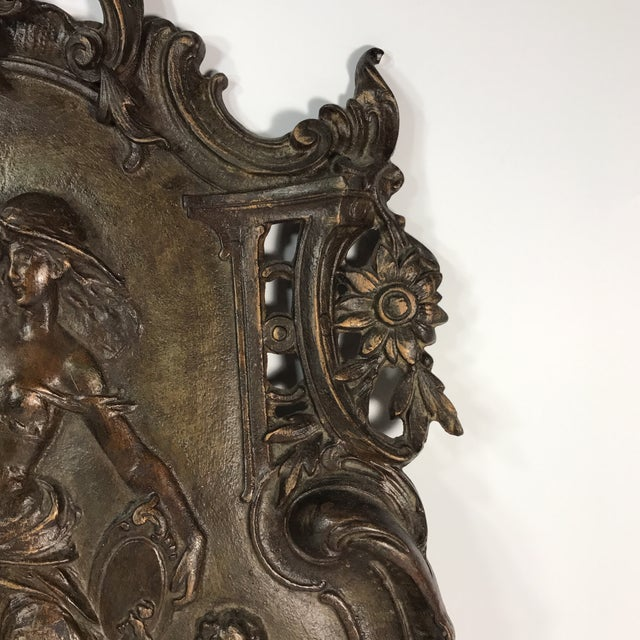 Antique Gilded Bronze Plaque For Sale In Miami - Image 6 of 11