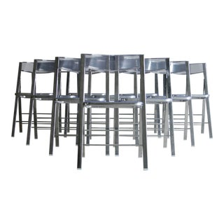 Clear Acrylic Folding Chairs, Set of 10 For Sale
