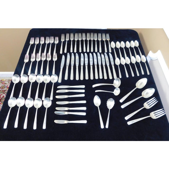 Traditional Traditional 1960s Sterling Silver Gorham Camellia Flatware Set - 74 Pieces For Sale - Image 3 of 11