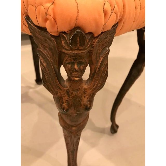 Art Deco Metal Vanity Bench For Sale - Image 4 of 12