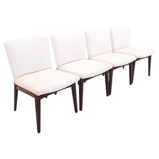 Set of Four Armless Jens Risom Dining Chairs For Sale