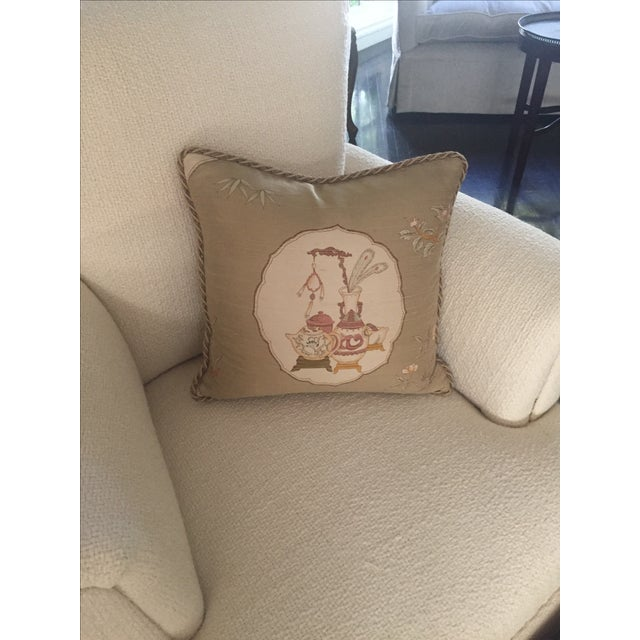 Custom-Made Silk Throw Pillow - Image 4 of 4