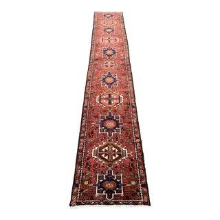 1970s Ethnic Red Runner- 2′4″ × 14′6″ For Sale