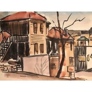 Charleston Area Watercolor 1930s For Sale