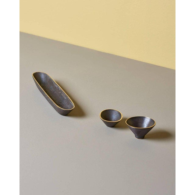 Mid-Century Modern Set of Three Bowls by Carl Auböck For Sale - Image 3 of 6