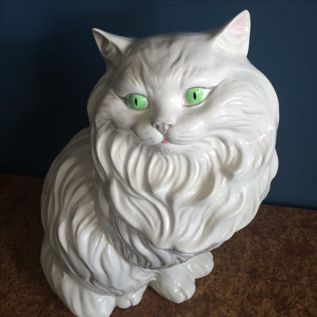 White Ceramic Cat - Image 4 of 8