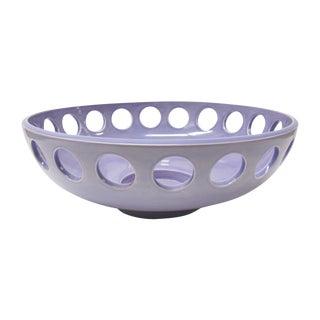 "Lawrence McRae Ceramic ""Low Bowl"" in Lavender"