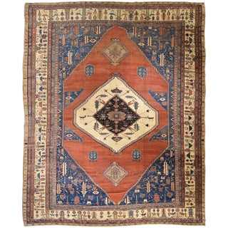 Antique Persian Bakshaish Rug For Sale