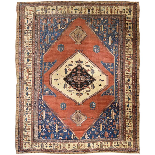 Antique Persian Bakshaish Rug - Image 1 of 6