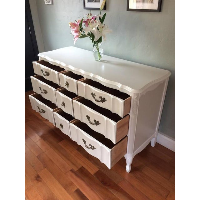 Solid Wood Two-Tone French Provincial Dresser - Image 9 of 9