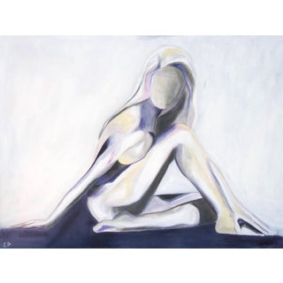 Lilac Lady -Modern Nude Abstract Painting by Emily Powell