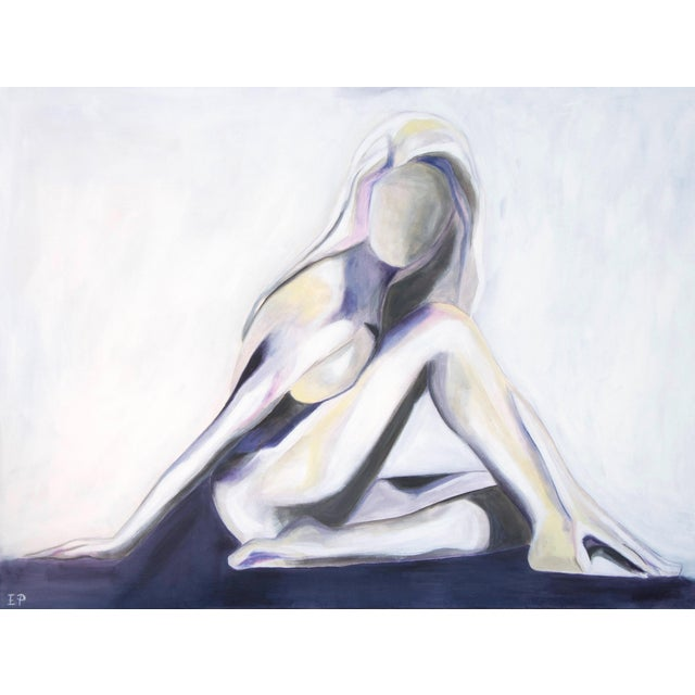 Lilac Lady -Modern Nude Abstract Painting by Emily Powell For Sale