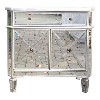 Regency Mirrored Chest Dresser Nightstand